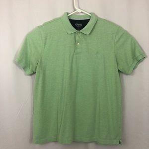 Chaps Men's Polo Shirt Chambray Lime Green Large